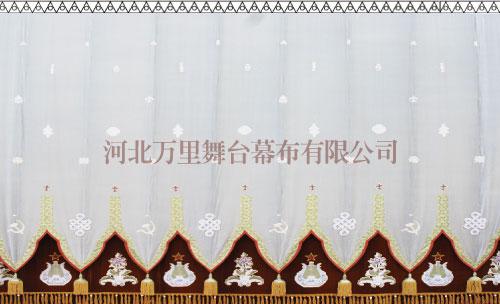浙江绣花大幕